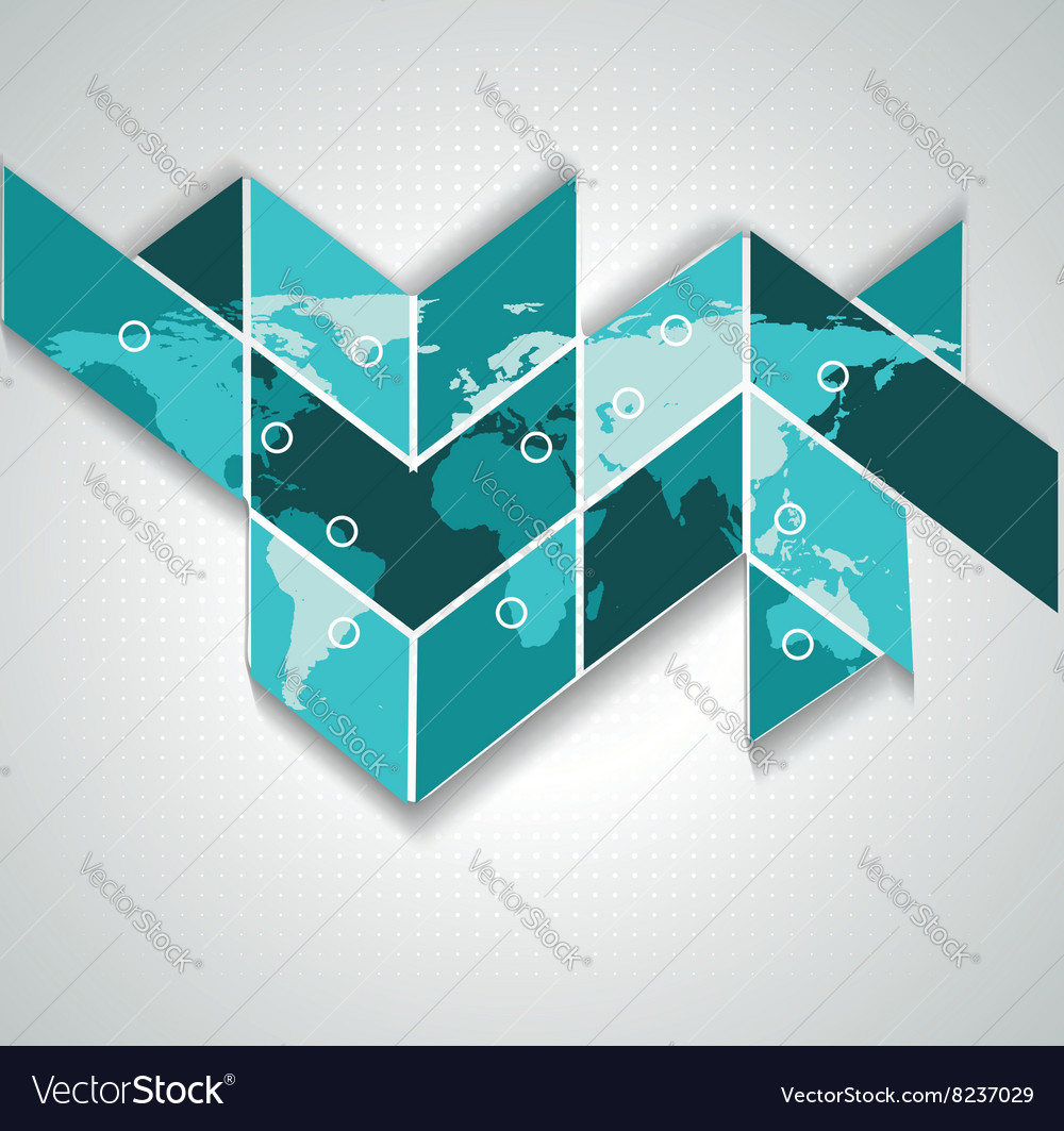 World map on puzzle background communication vector image gumiabroncs Choice Image
