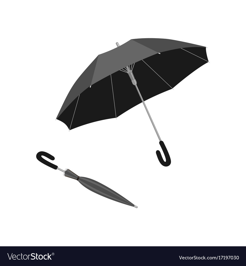 Isolated open and close umbrella vector image