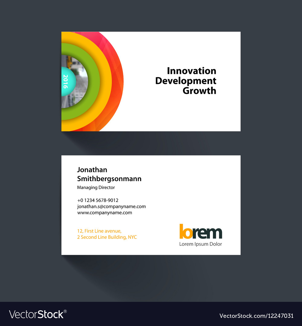 Half circle business cards gallery free business cards target business card gallery free business cards business card template with half target royalty free vector magicingreecefo Choice Image