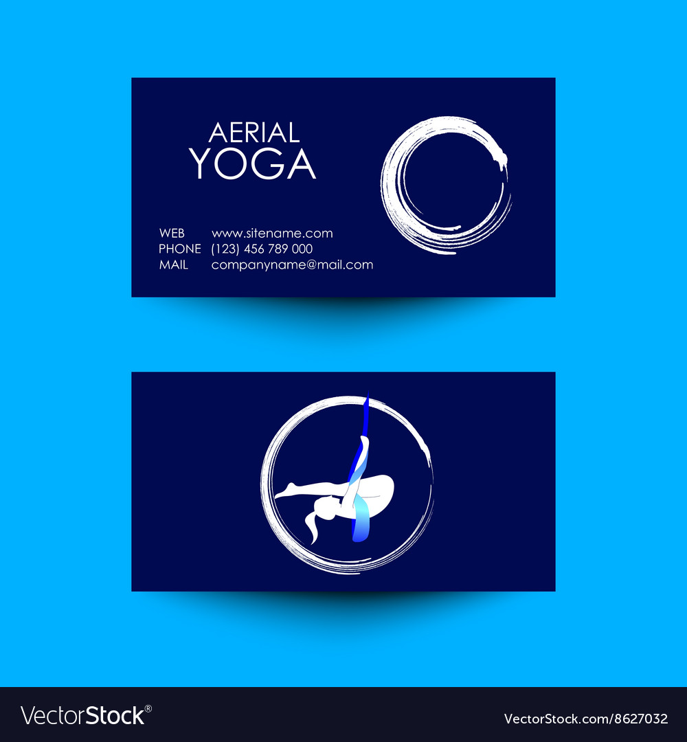 Business card of aerial yoga studio royalty free vector business card of aerial yoga studio vector image magicingreecefo Gallery