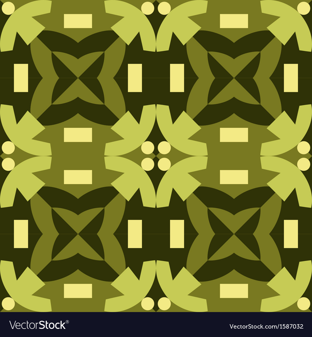 Green seamless pattern made from man figures vector image