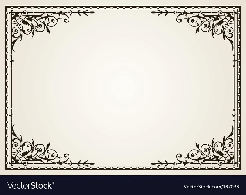 Ornate swirl frames vector image