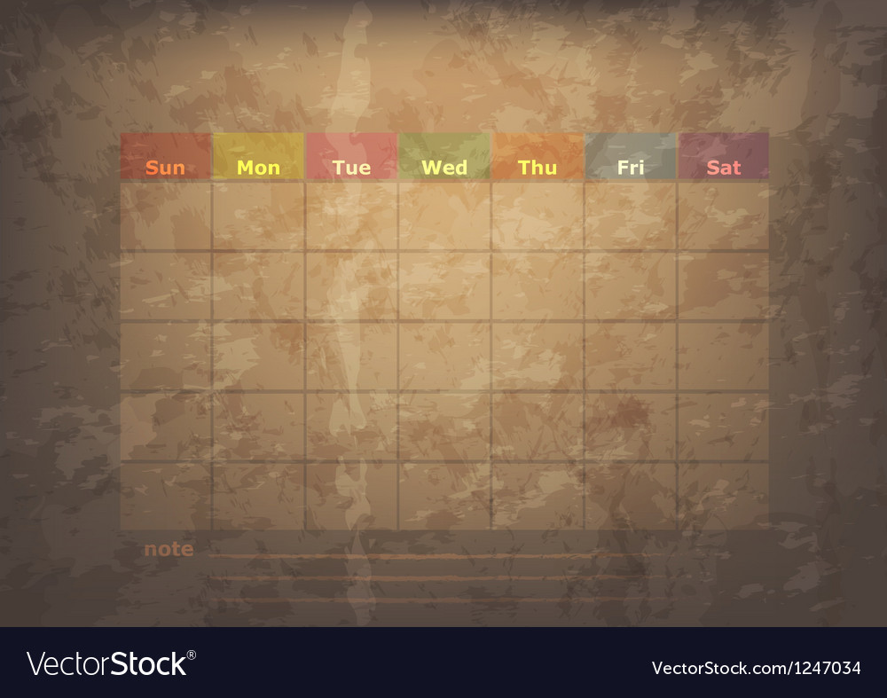 Antique calendar of December vector image