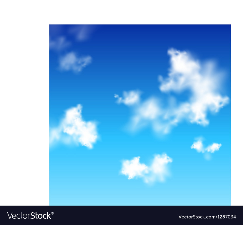 Clear blue sky with white clouds Vector Image