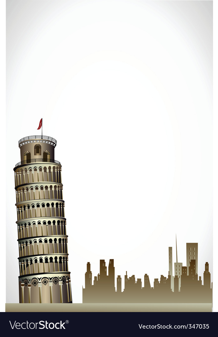 Leaning Tower of Pisa vector image