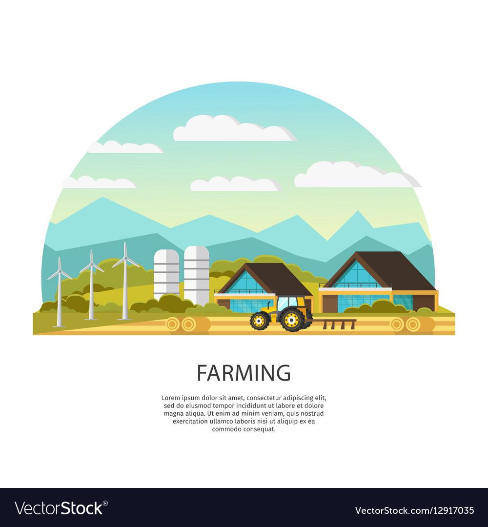 Modern Farming Template vector image