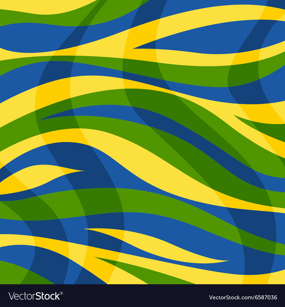 Abstract background with color stripes and waves vector image