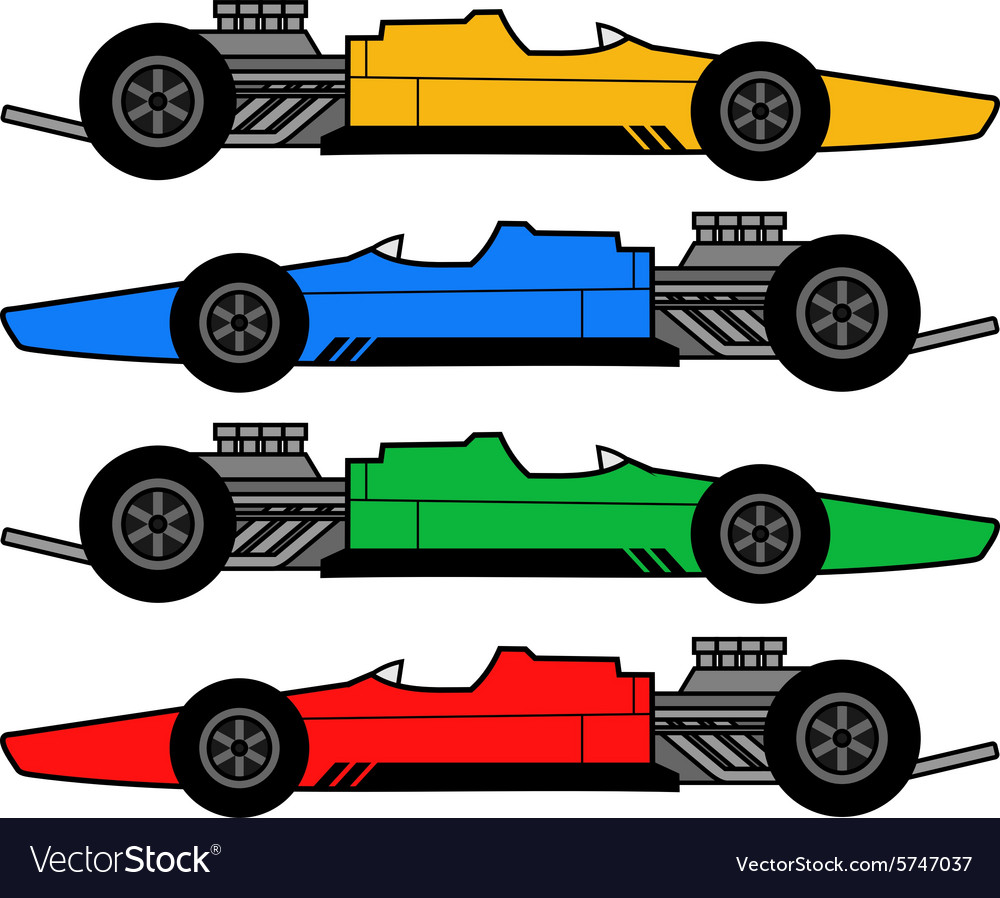 1960 racing car vector image