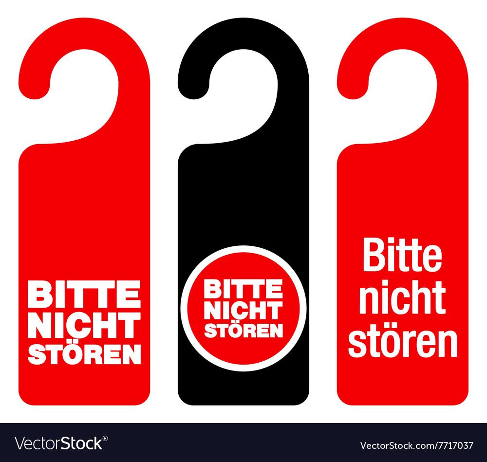 Bitte nicht storen do not disturb signs vector image