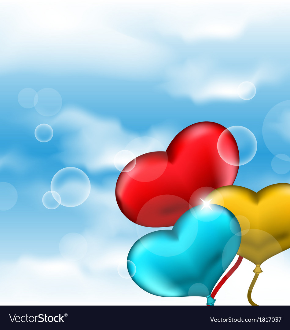 Collection glossy hearts balloons for Valentine