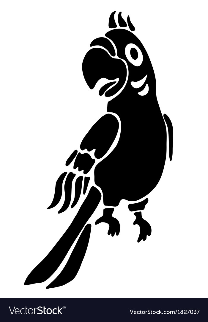 Tattoo of a parrot vector image