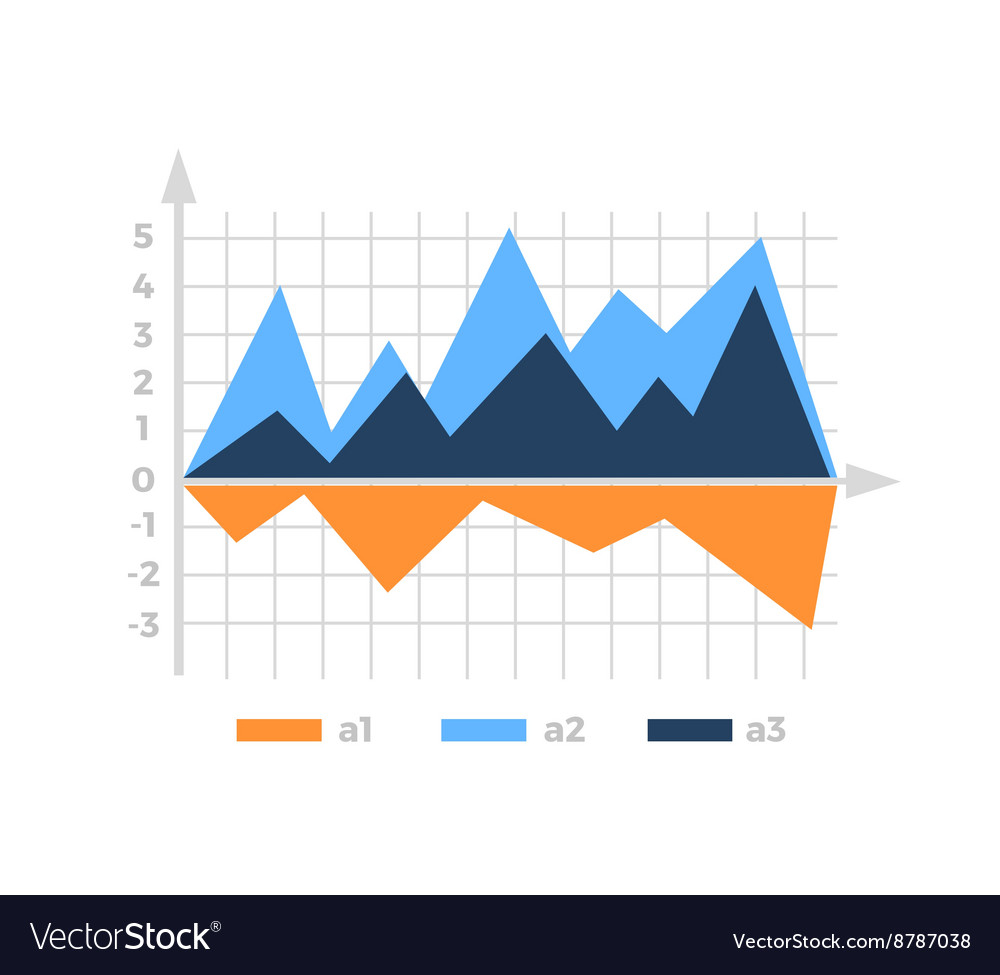Level Chart with Colored Arrows vector image