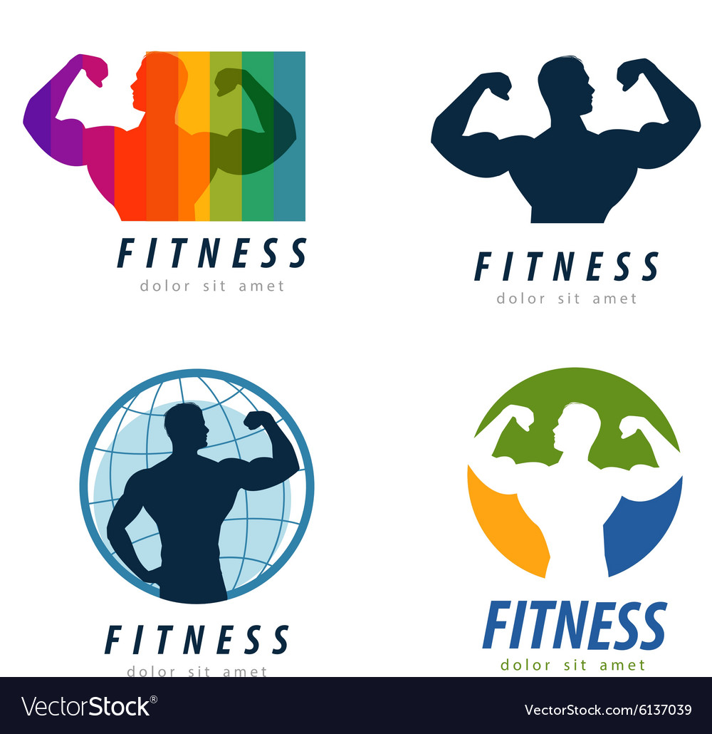 Gym logo design template health or fitness Vector Image for Gym Logo Pictures  269ane