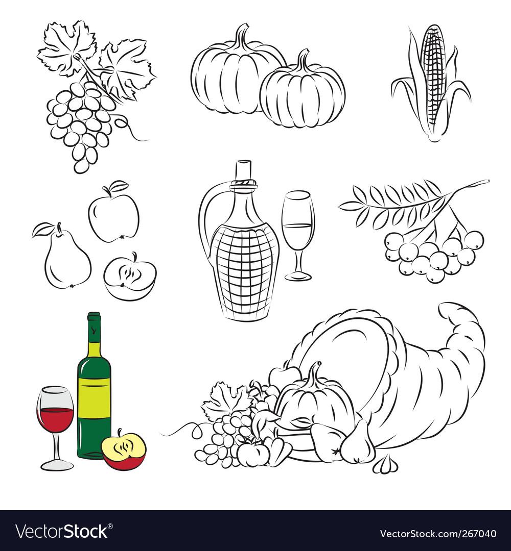 Autumn harvest vector image
