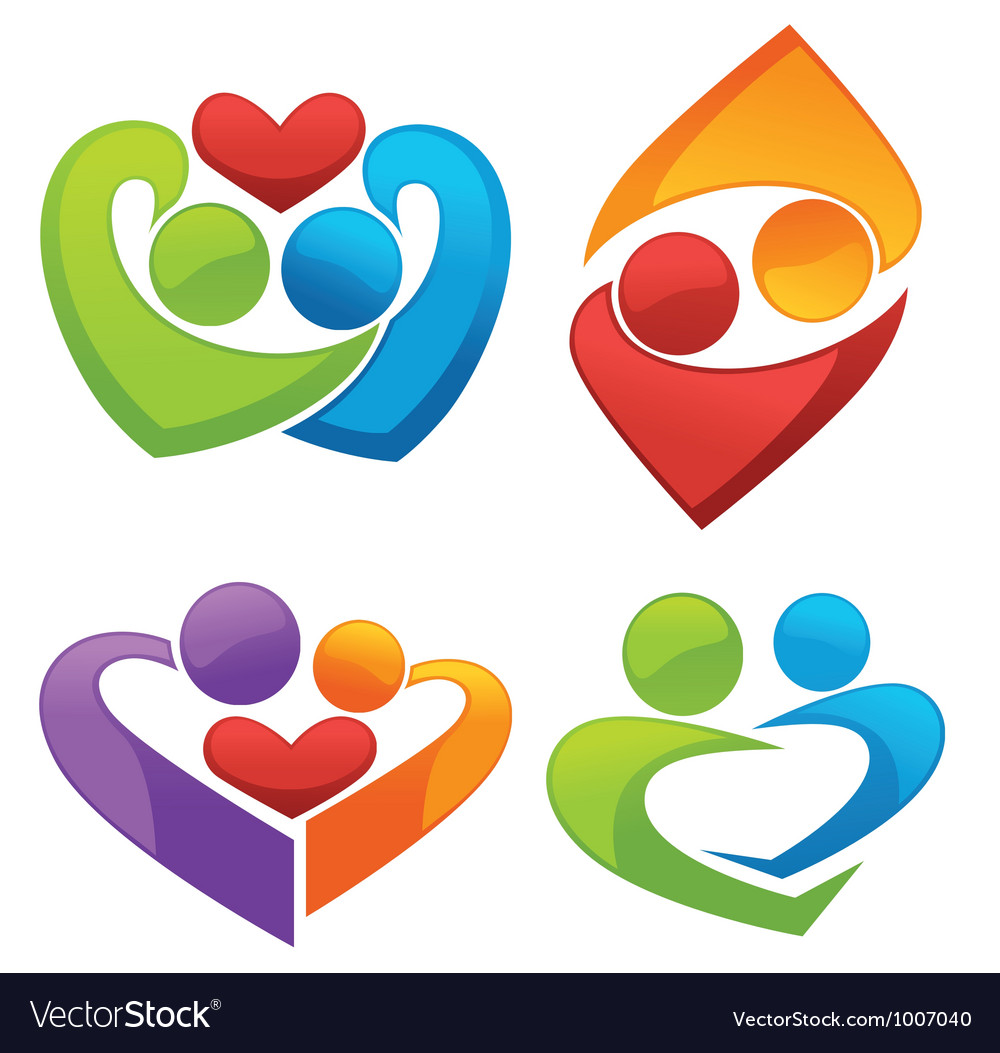 Symbols of love and lovers vector image