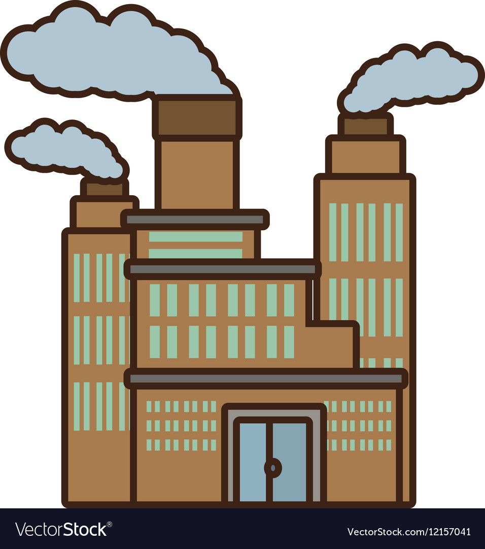 Cartoon manufacture building pollution chimney vector image cartoon manufacture building pollution chimney vector image sciox Gallery