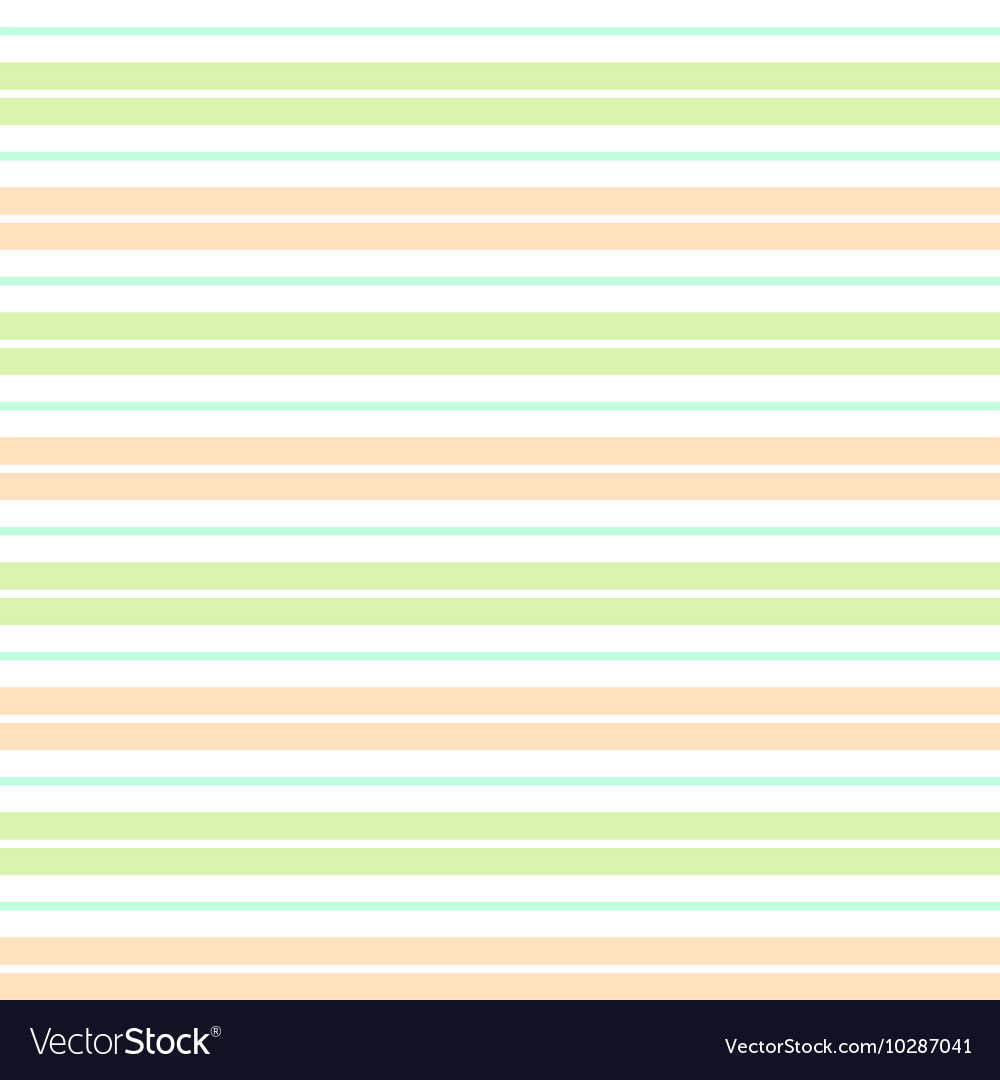 Orange Green White Stripes Background vector image