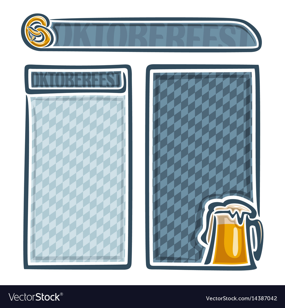Menu for oktoberfest vector image