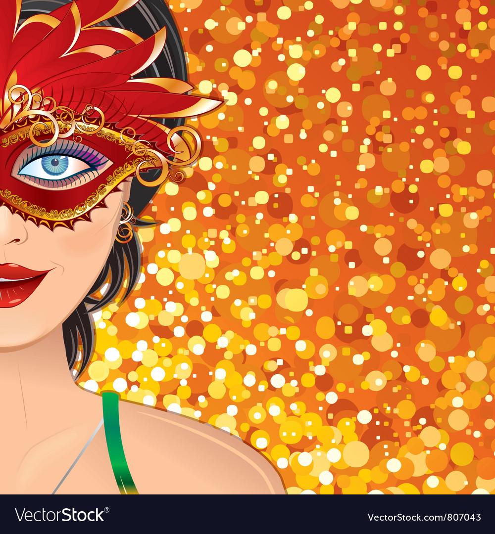 Carnival Girl Background vector image