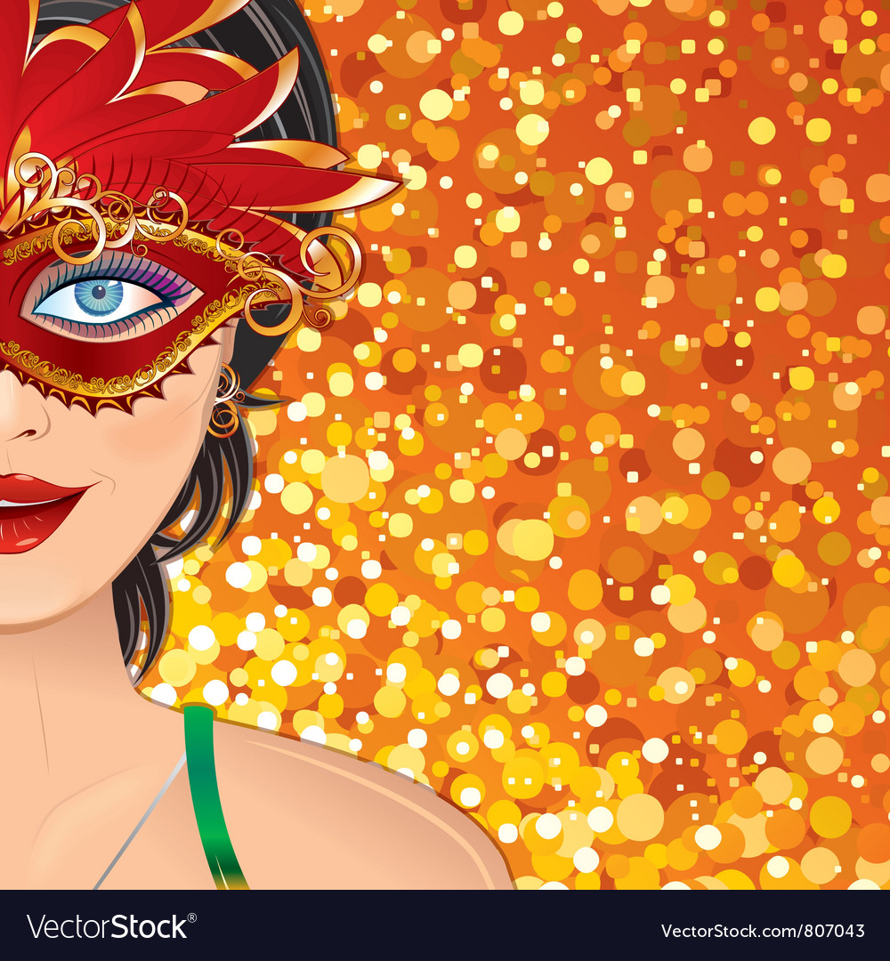Carnival Girl Background vector image