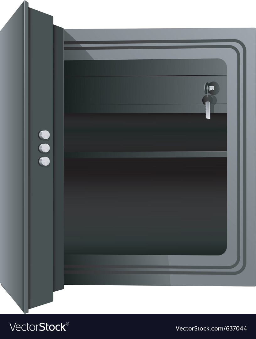 Open the safe vector image