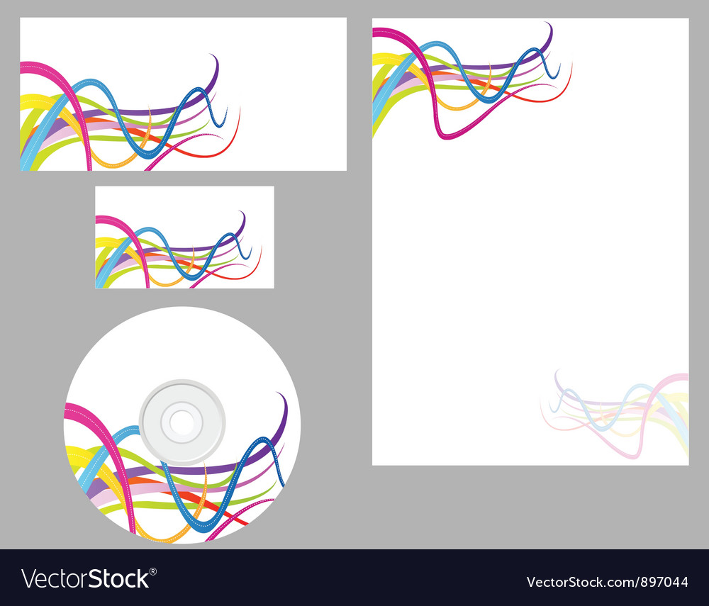 Business set business card letterhead Royalty Free Vector