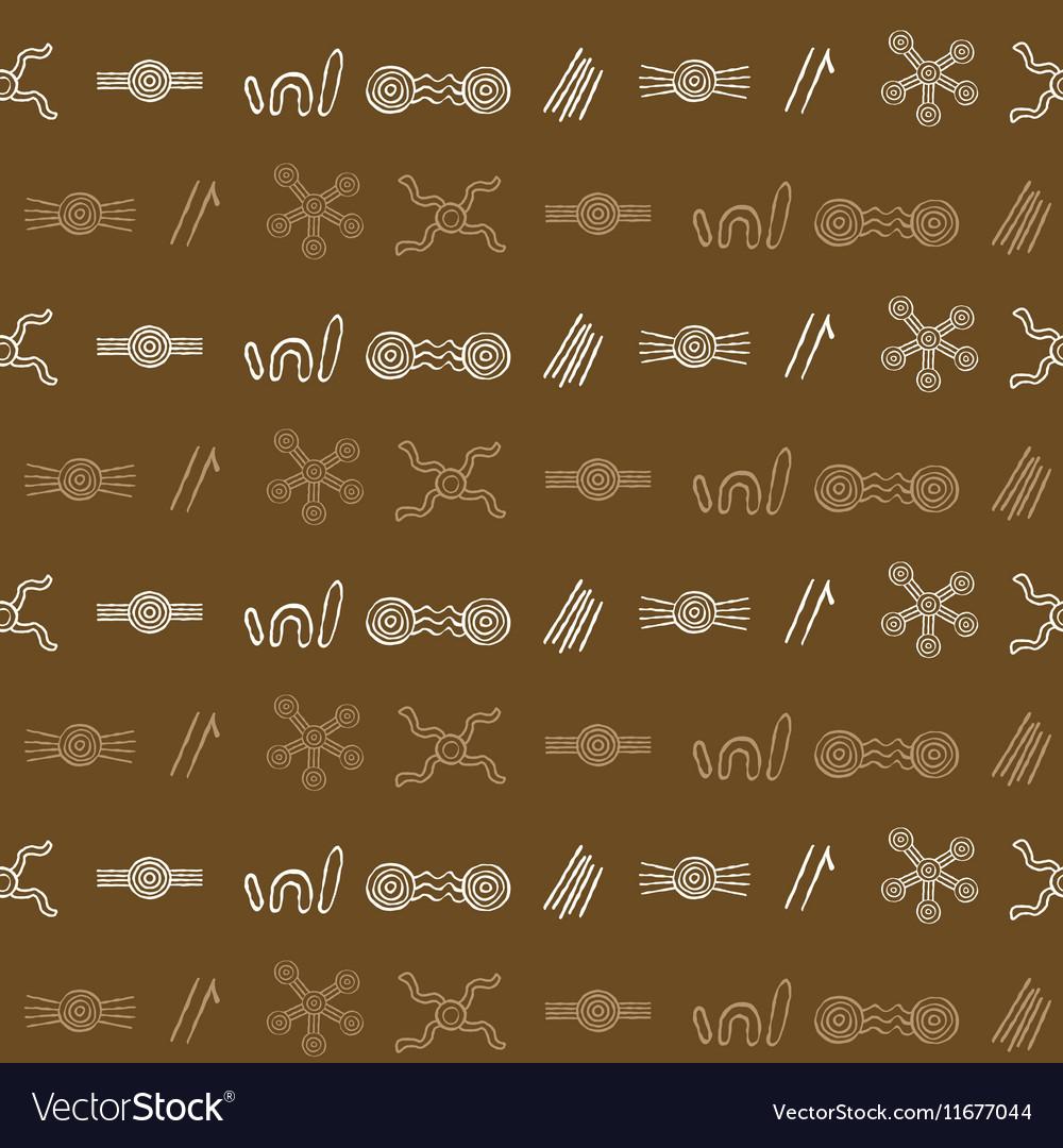 Seamless pattern with australian aboriginal art vector image seamless pattern with australian aboriginal art vector image biocorpaavc Images