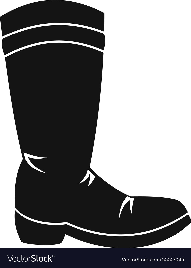 Cowboy boot icon simple style vector image