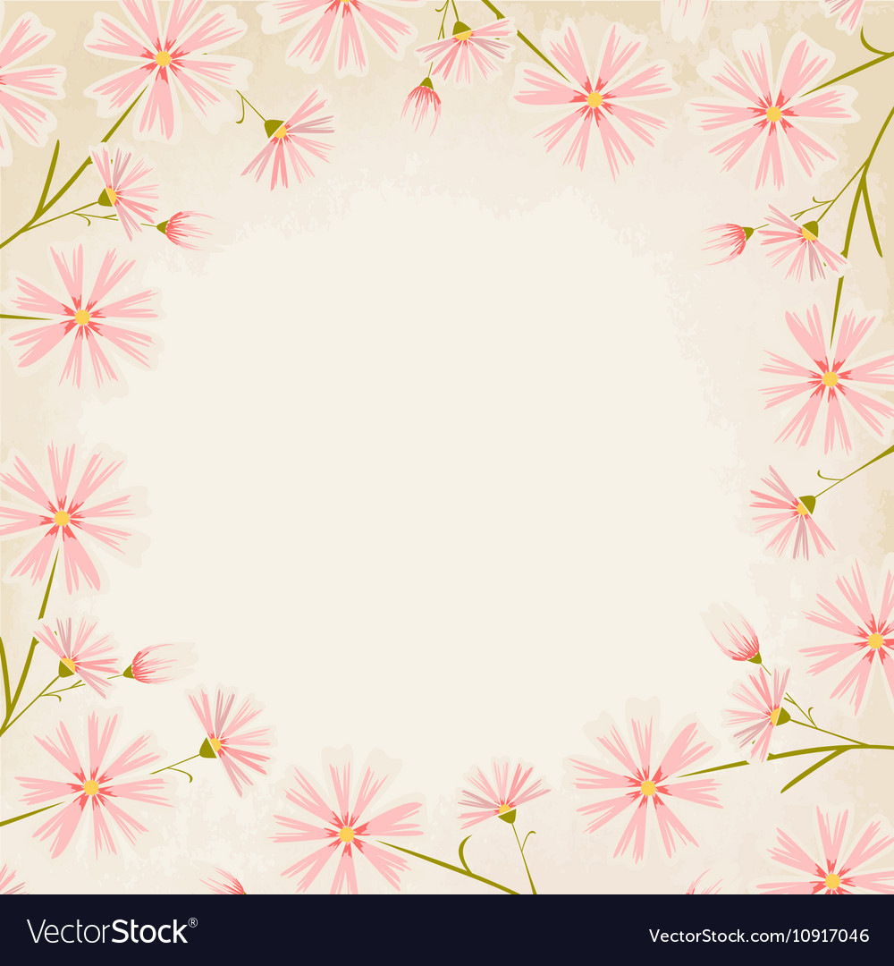 Pink Flowers Borders Pink Flower Border Stock Image Image Of