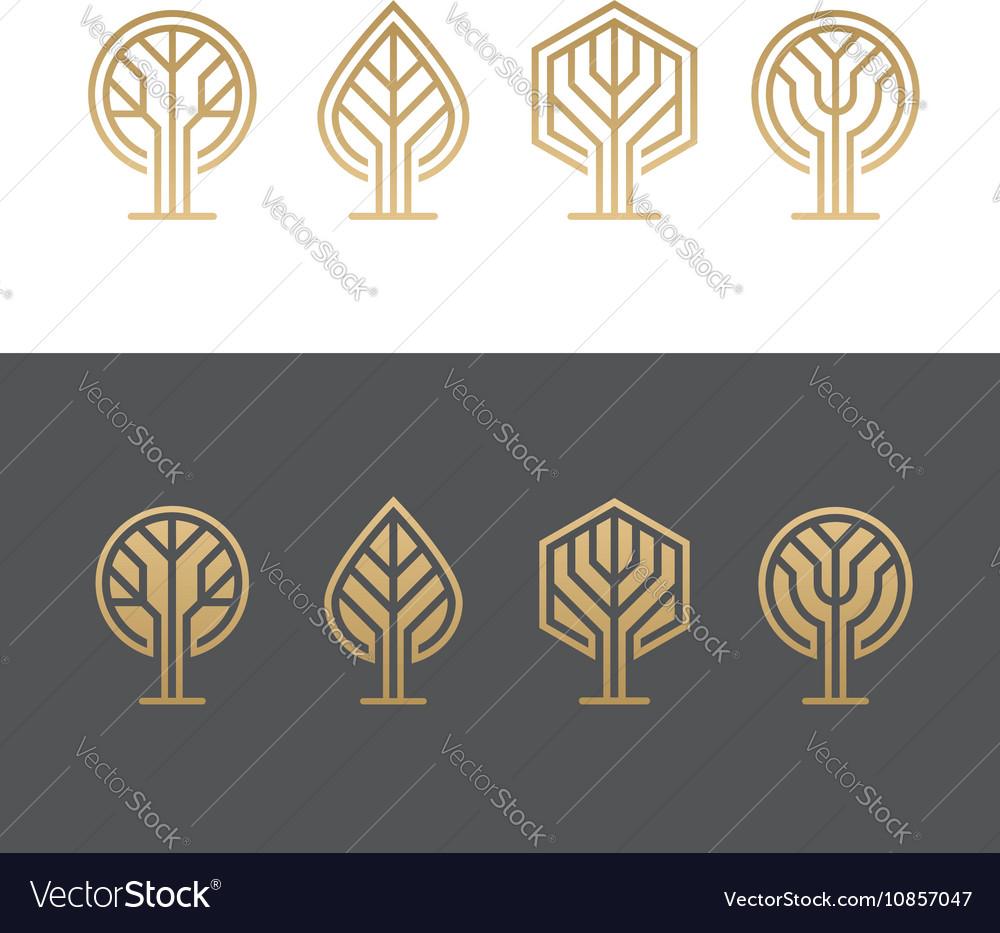 Abstract tree logos vector image