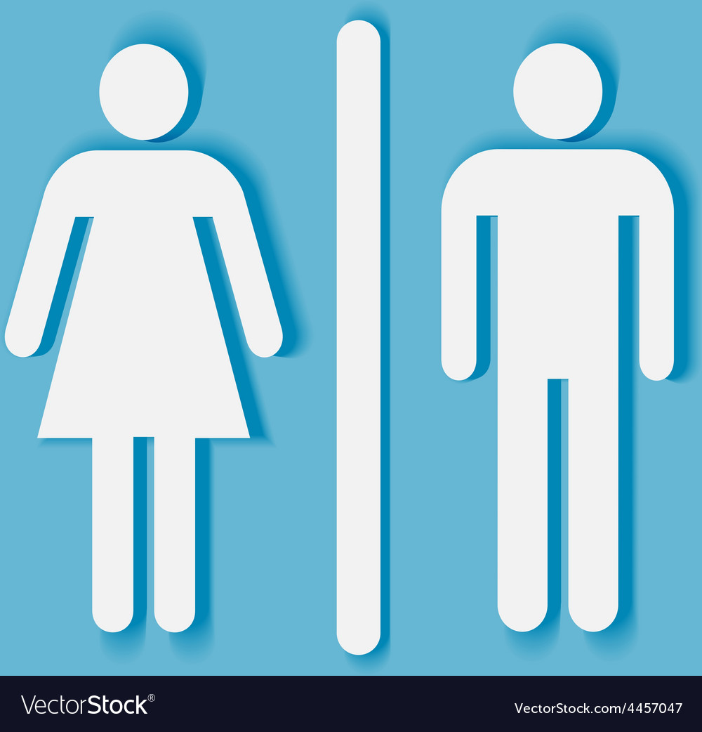 Man And Woman Bathroom Symbol Vector Image