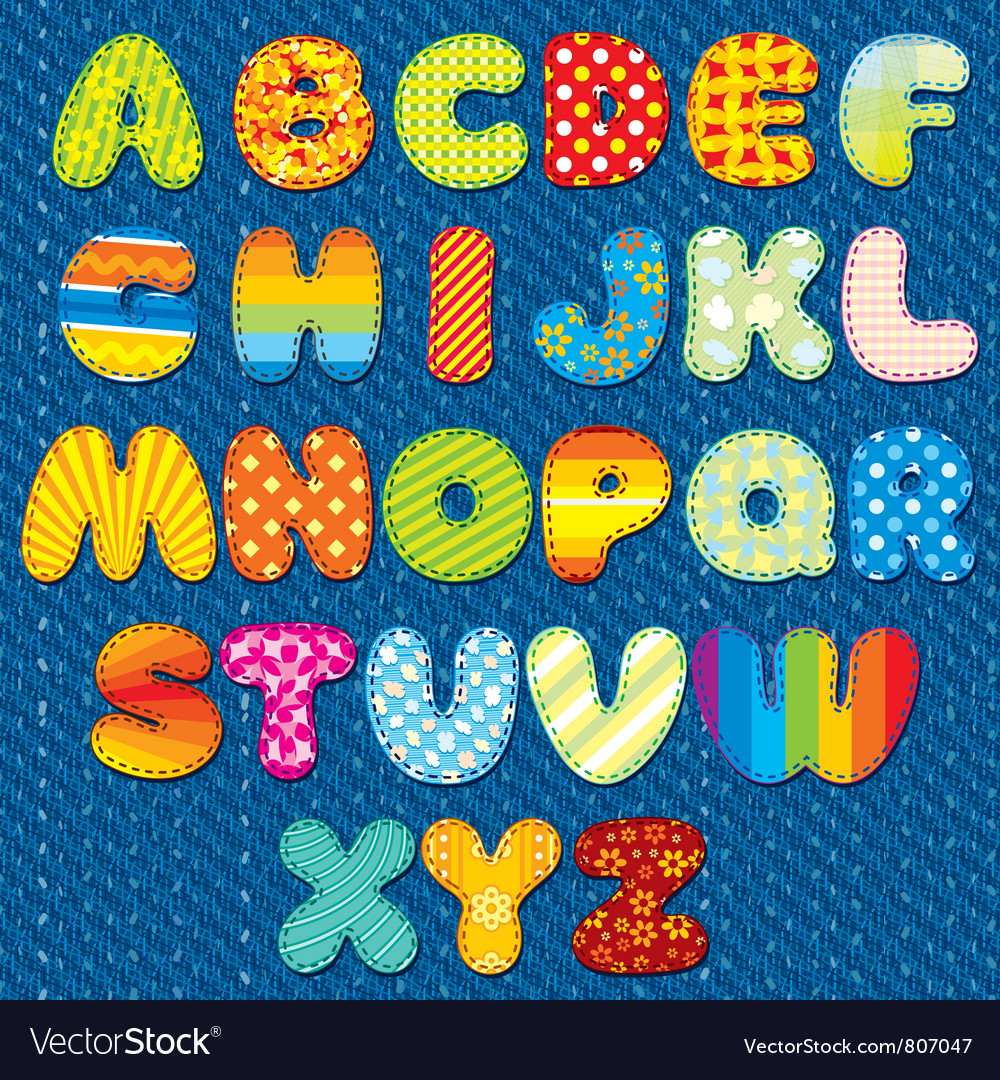 Stitches Font vector image