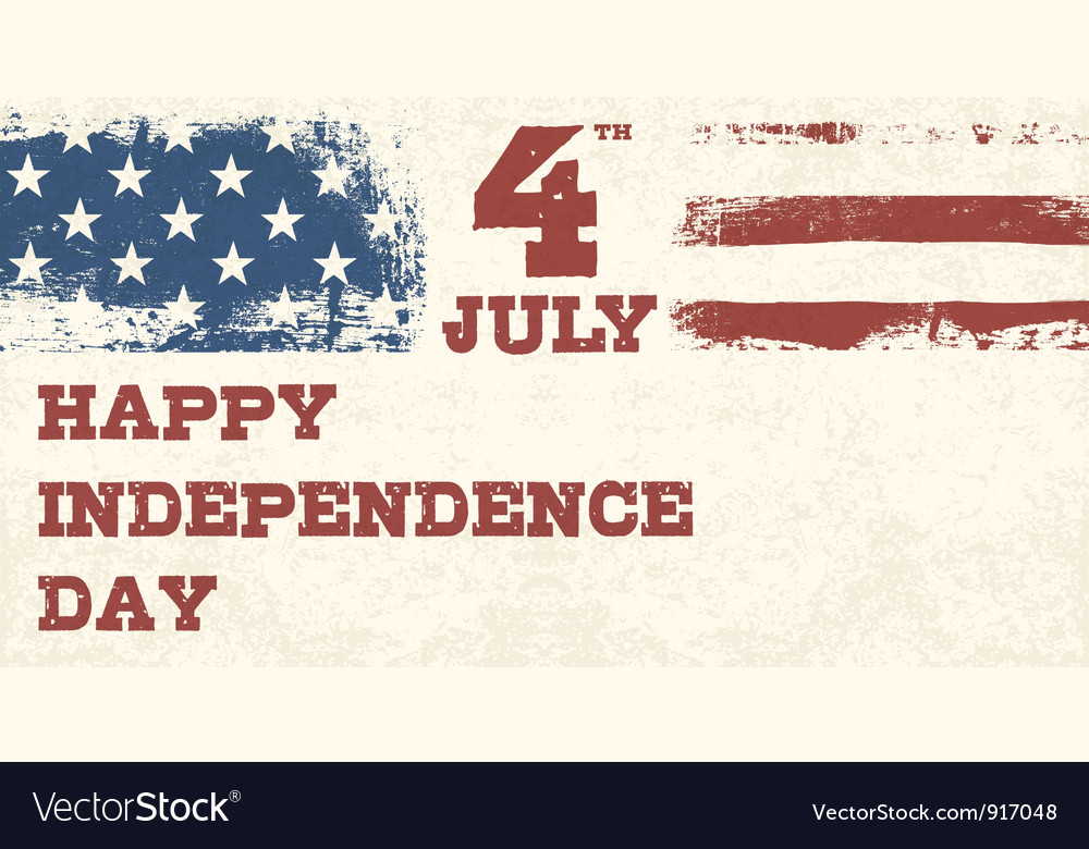 Retro style independence day design vector image