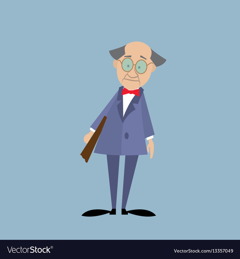 Professor in a suit with a folder vector image