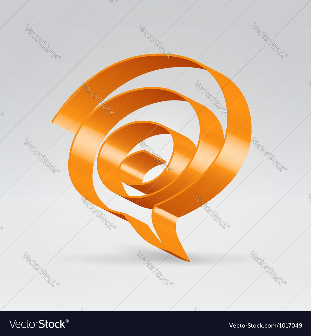 Swirl balloon vector image