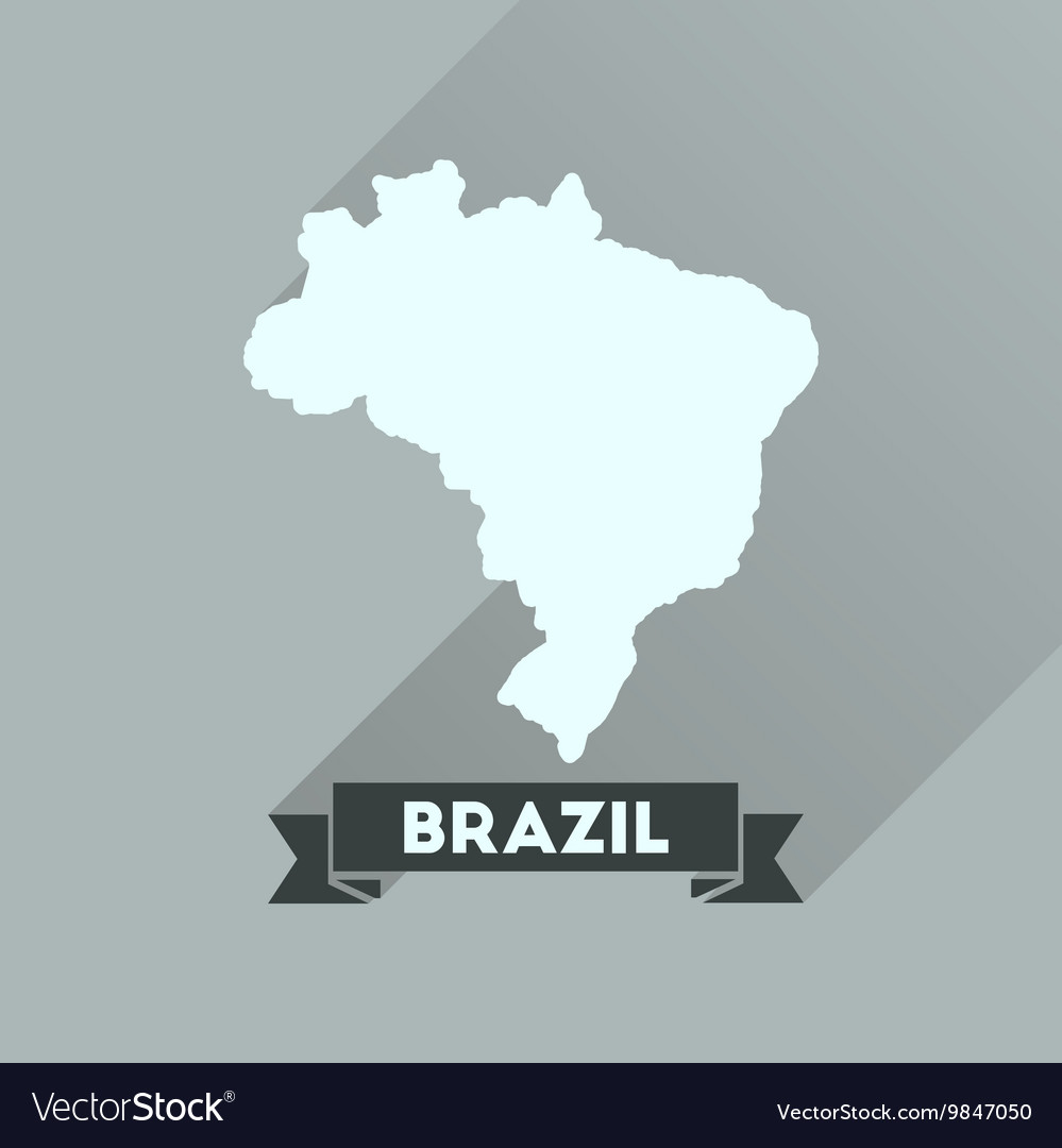 Flat icon with long shadow brazil map royalty free vector flat icon with long shadow brazil map vector image gumiabroncs Choice Image