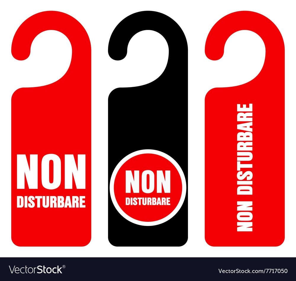 Non disturbare do not disturb signs vector image