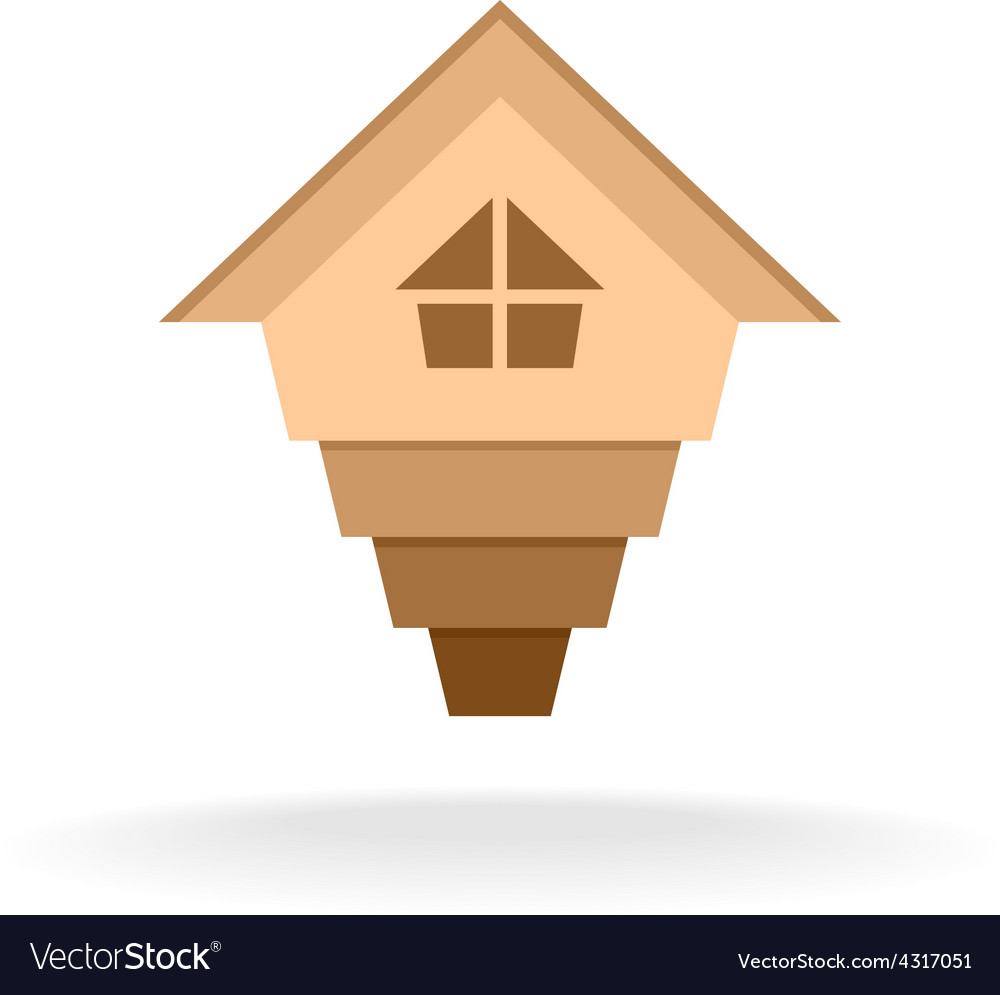 Arrow up house logo vector image
