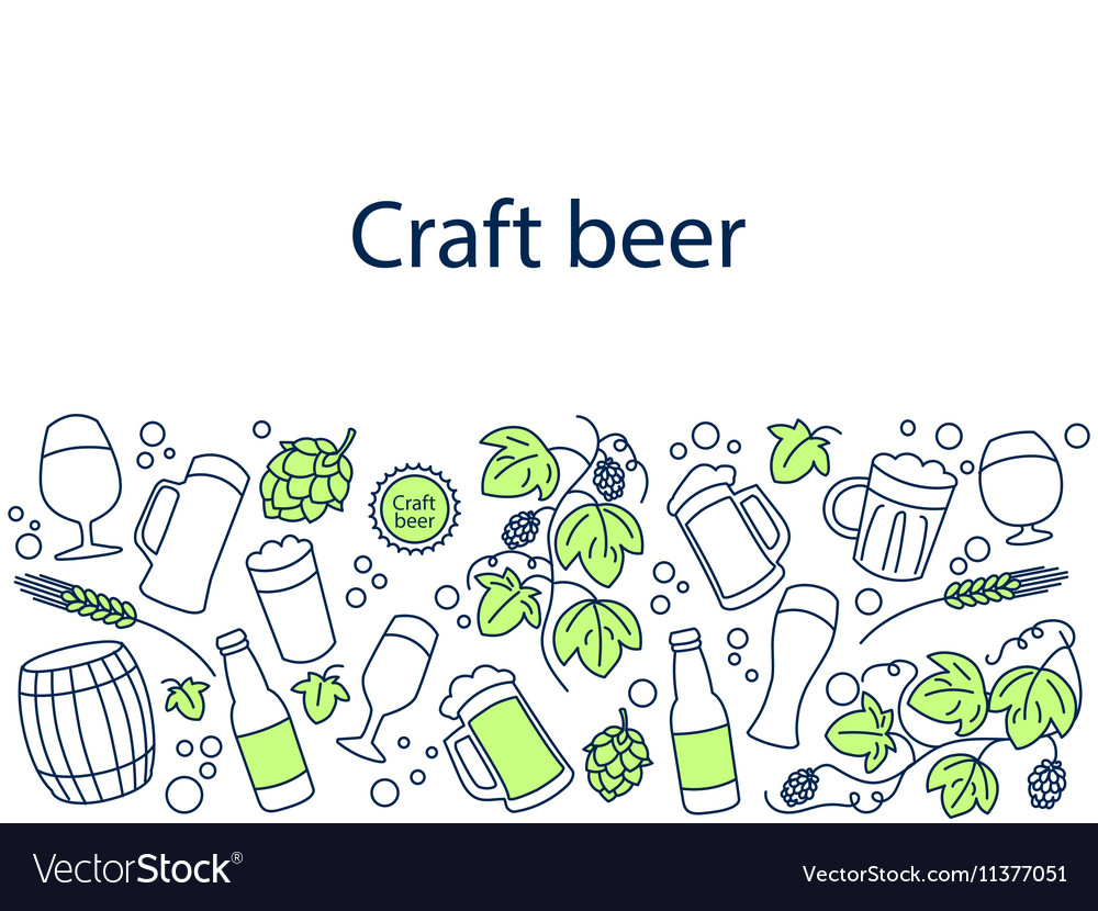 Craft beer banner vector image