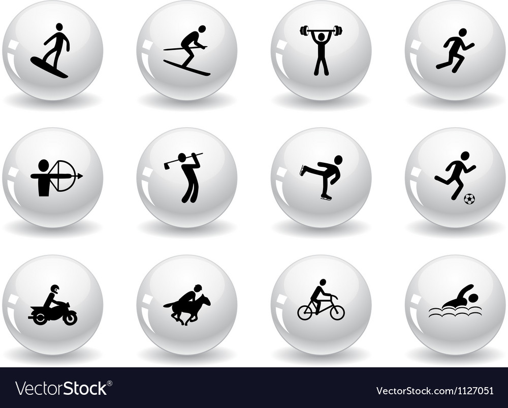 Web buttons games and sport icons vector image