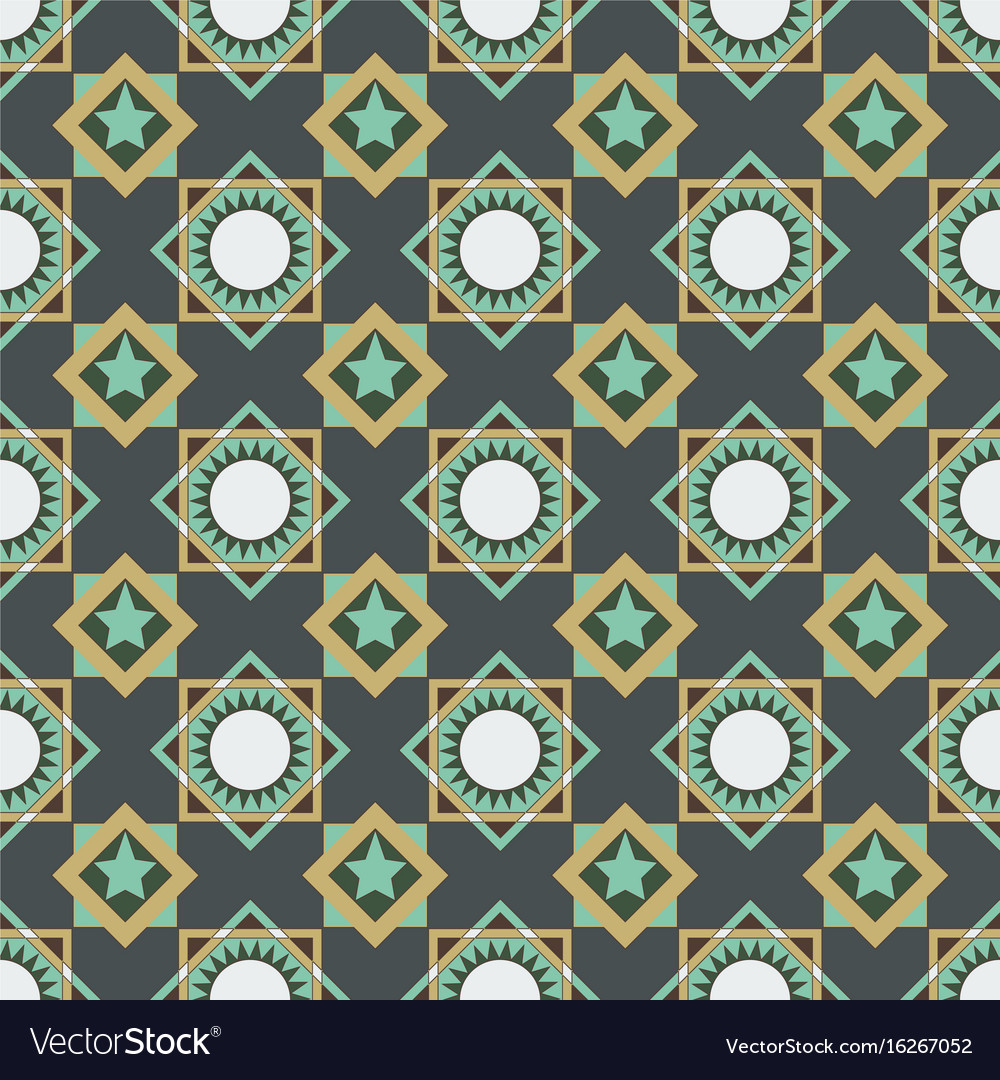 Seamless pattern of circles triangles and squares vector image