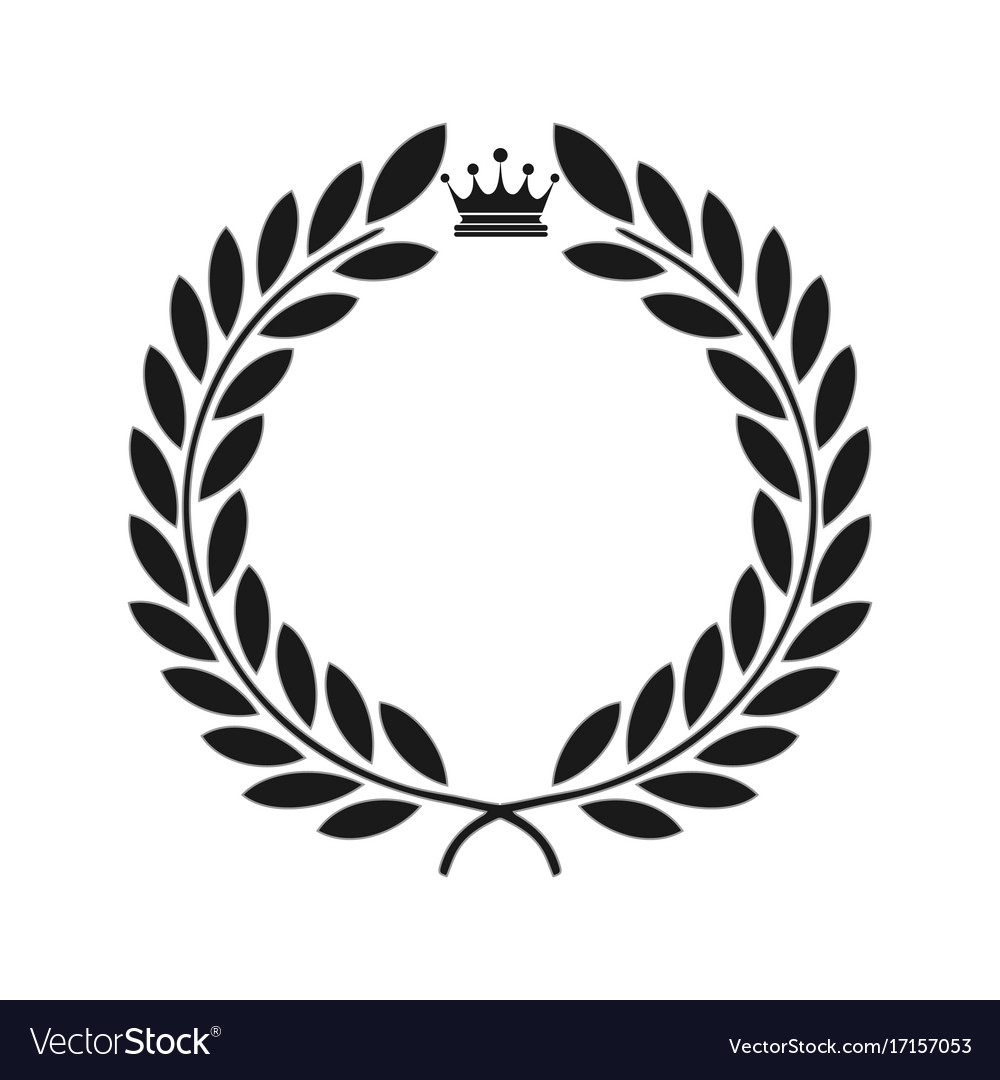Laurel icon isolated on the black background vector image