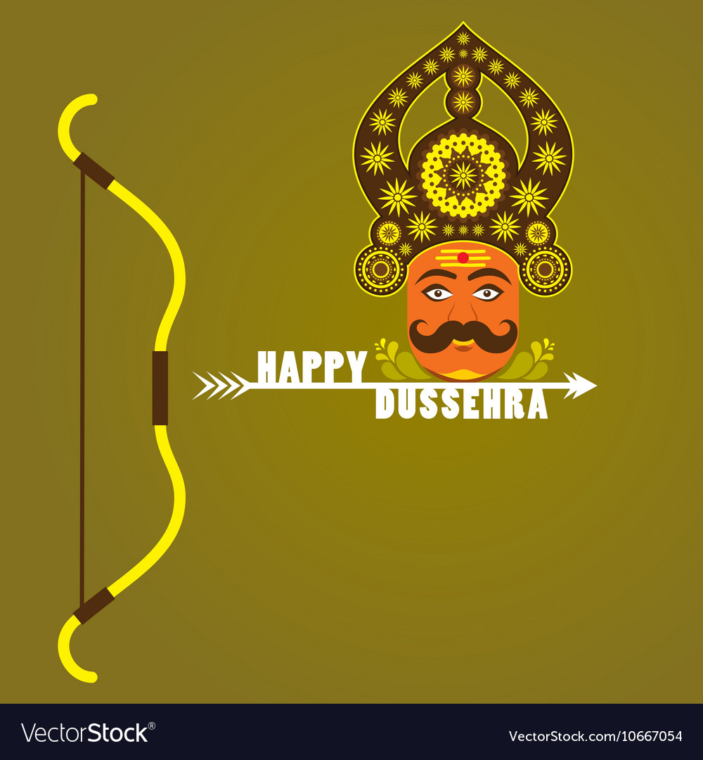 Happy dussehra festival poster or greeting design vector image kristyandbryce Choice Image