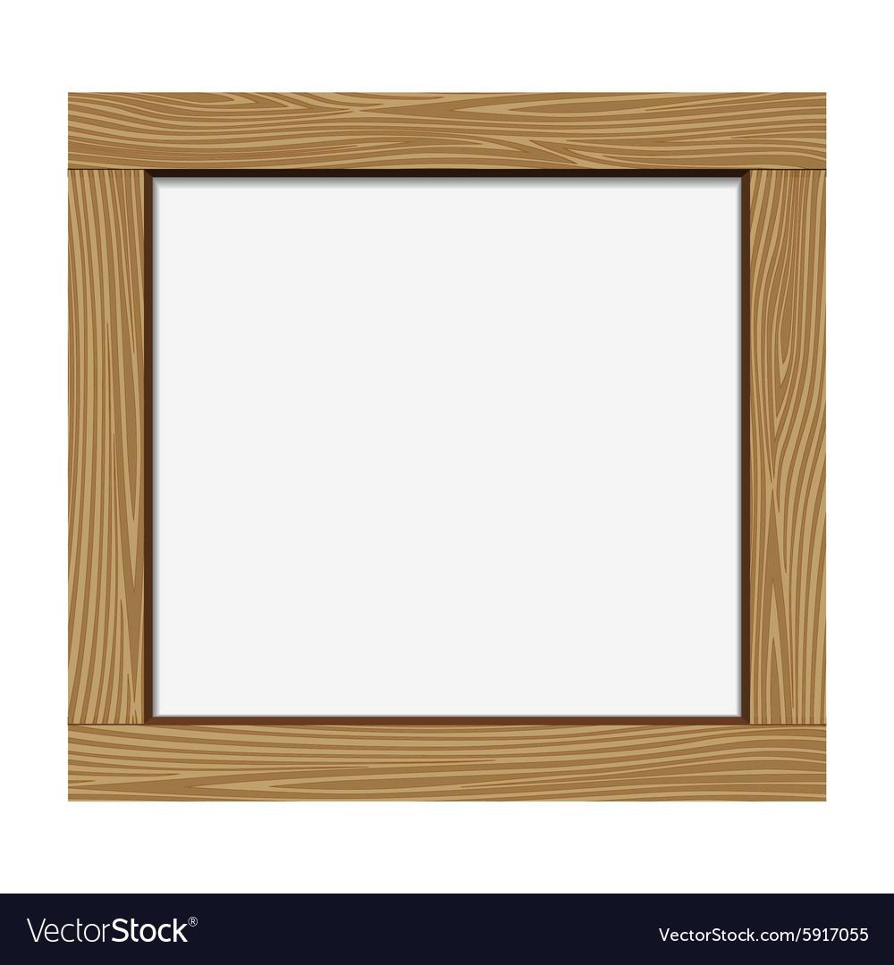 Empty notice wooden board vector image