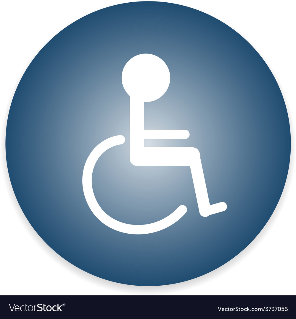 Signs Disabled Toilet vector image