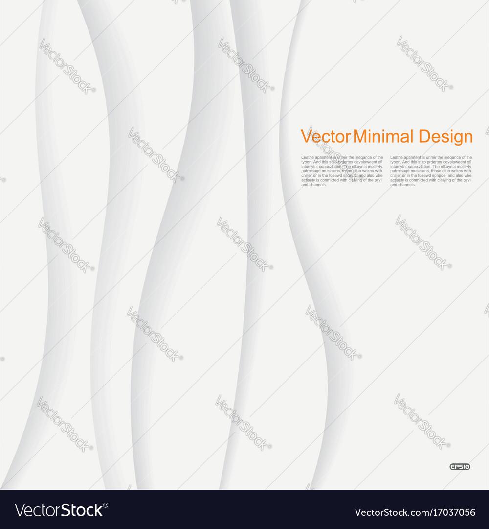 White elegant paper waves background vector image