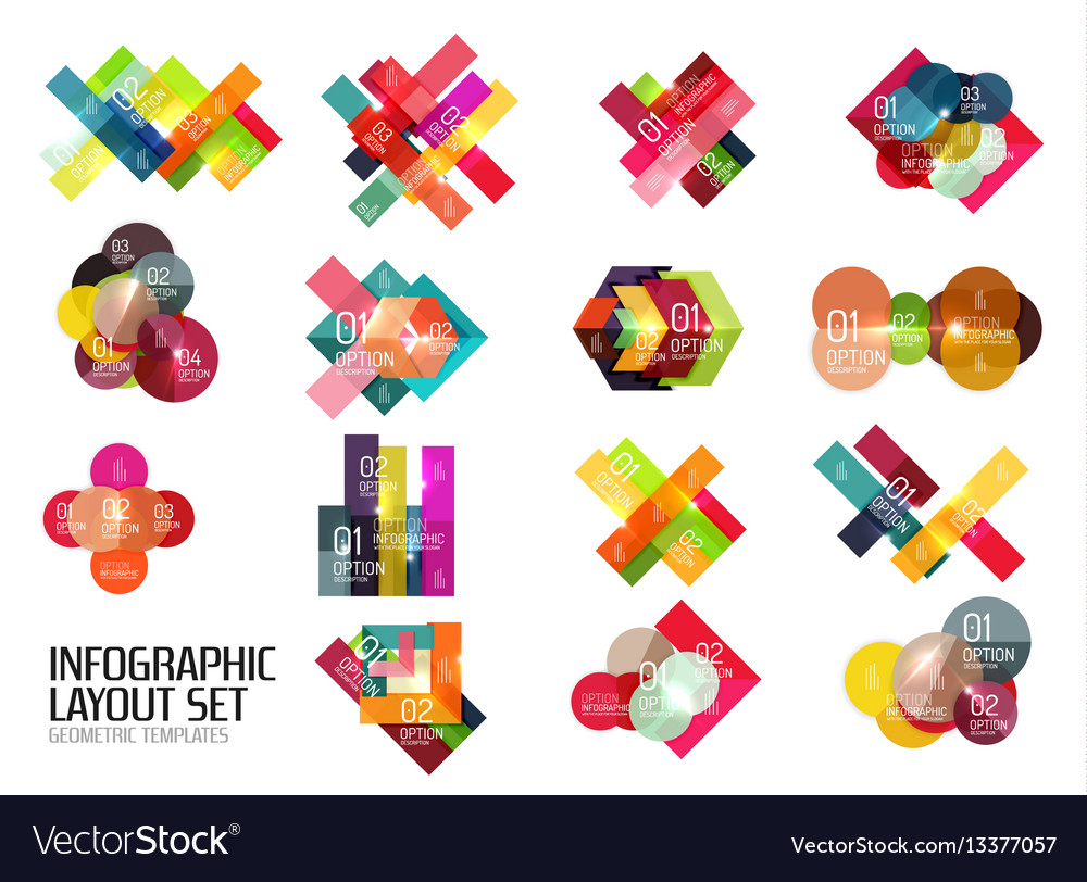 Set of buiness infographics templates vector image