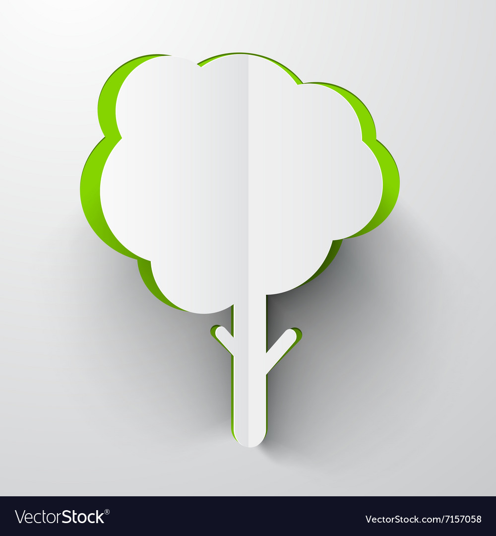 Paper Cut Tree vector image