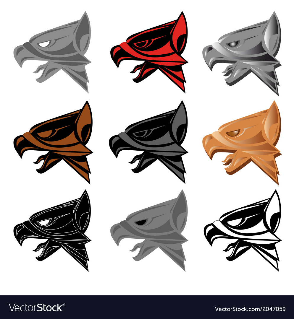 Griffin head vector image