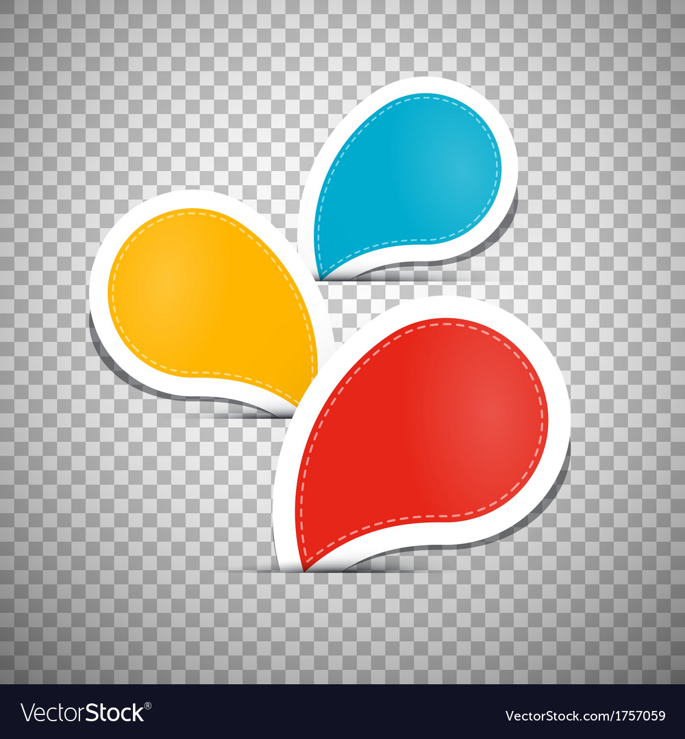Orange Blue Red Empty Labels Tags vector image